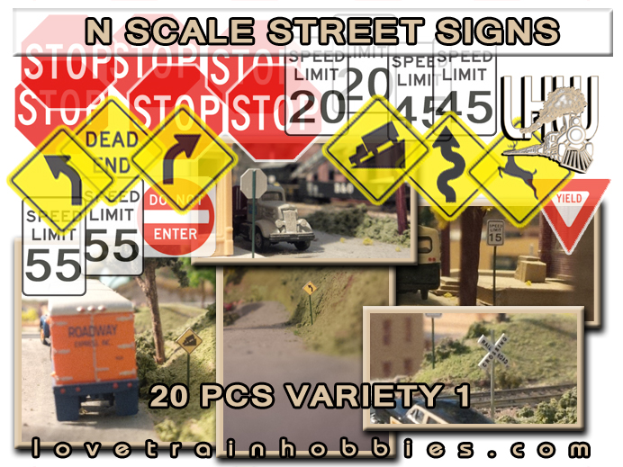 N Scale Signs Variety Pack 1