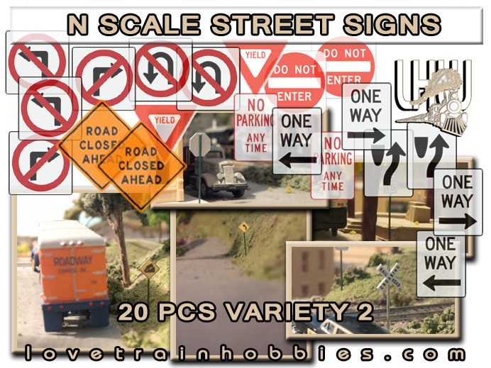 N Scale Signs Variety Pack 2