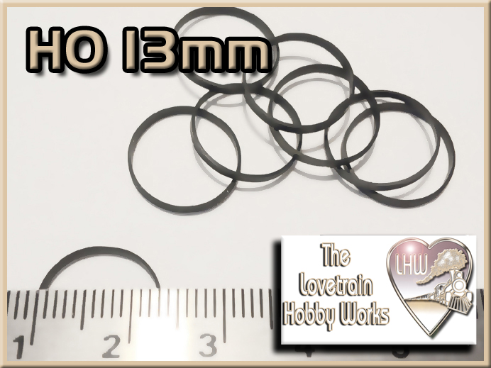 HO Scale 13mm Traction Tires
