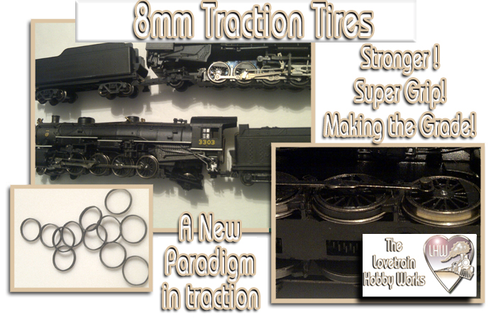 N Scale Traction Tires - The Lovetrain Hobby Works