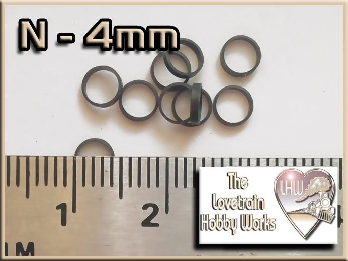 N Scale 4mm Traction Tires - The Lovetrain Hobby Works